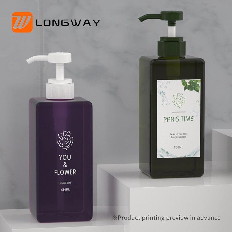 650ml PETG bottle with lotion  pump