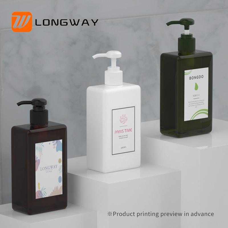 Cosmetic Lotion Pump PETG Bottle Plastic Shampoo Bottle