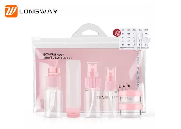 Plastic PETG Travel Toiletry Bottle Kit