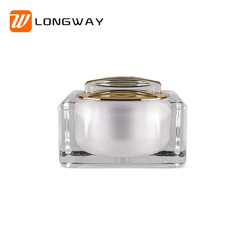 square friut acrylic cream jar1