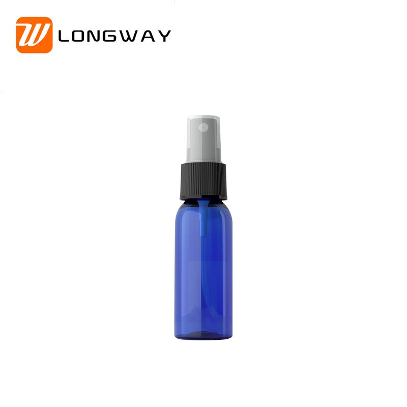 30ml PET plastic round shape empty perfume atomiser spray bottle