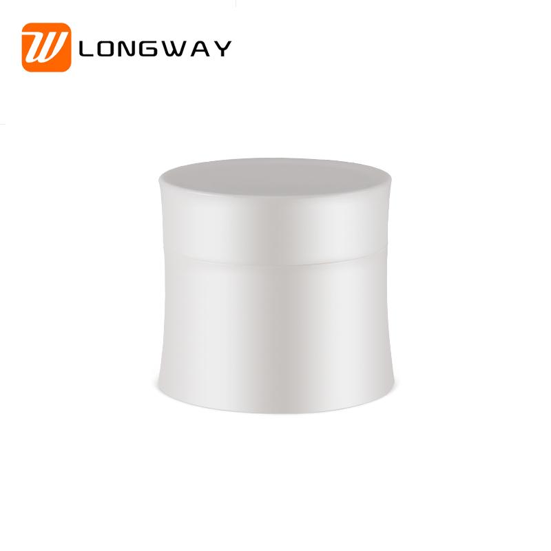 white pp empty jar with cap1